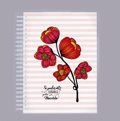 """Tapa de Agenda """"Flores"""""""