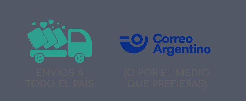 Envíos a todo el país (Correo Argentino... o indicanos el medio que prefieras)